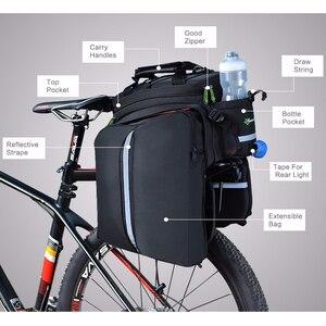 Image 3 - Сумка на заднее сиденье велосипеда ROCKBROS, рюкзак для багажника, велосипедная сумка для горного велосипеда, посылка на багажник, вместительные Аксессуары для велосипеда