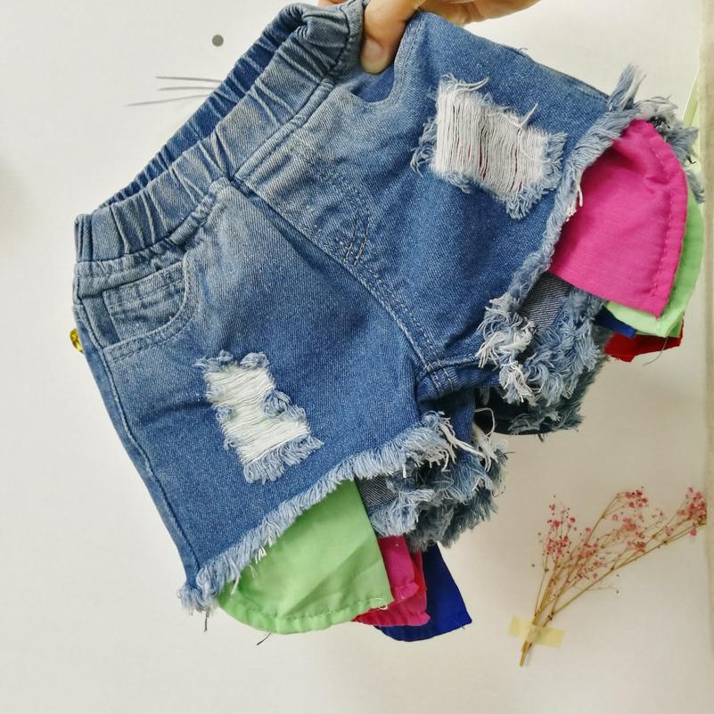 2018 Spodenki dżinsowe dziewczęce wersja letniej odzieży - Ubrania dziecięce - Zdjęcie 5