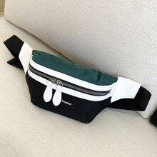 Женская сумка на пояс, новинка, Брезентовая, для отдыха, с панелями, поясная сумка для девочек, с буквенным принтом, сумка на пояс, модная, на грудь, через плечо