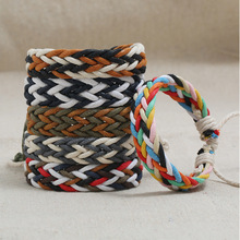 New color wax line couple hand rope ethnic wind hand-woven simple casual men and women accessories bracelet