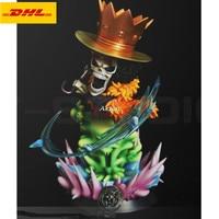 11 ONE PIECE Statue The Straw Hat Pirates Bust BROOK Full Length Portrait Swordman GK Action Figure PF Toy BOX 28CM B1179