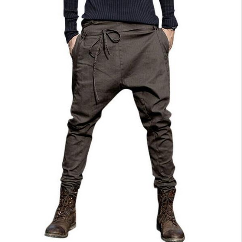 VXO Men Trousers Harem-Pants Joggers-Feet Low-Crotch Casual Brand