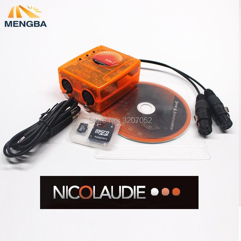 Software de controle Do Estágio profissional Suíte Sunlite FC 2 DMX-USD Controlador DMX bom para DJ Festa KTV Luzes LED 1536 Canais