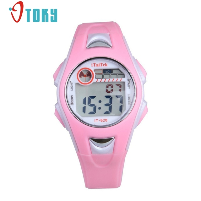 Children Watch Outdoor Sports Kids Boy Girls LED Digital Alarm Waterproof Wristw
