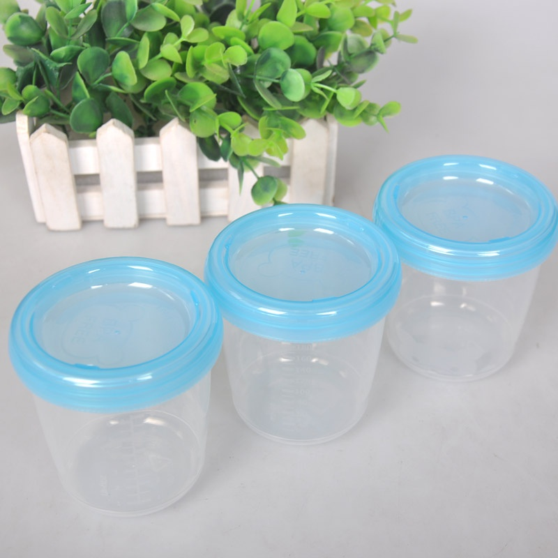 2 Colors Baby Food Storage Set Cup Breast Milk Fruit Juice Storage Seal Preservation Cups Box Melkpoeder 180ml ...