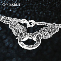 Jia Shun Long Paragraph Sweater Chain Necklace And Silver Chain Necklace Jadoku Korea Retro Thick 925