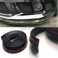 Car Carbon Fiber Front lip 2.5M For Chevrolet Cruze Aveo Captiva Lacetti TRAX Sail Epica For Acura MDX RDX TSX Accessories