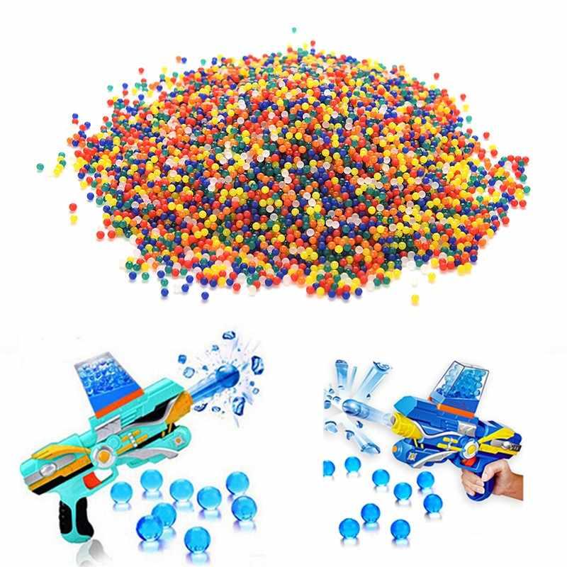 200Pcs/lot Colored Soft Crystal Water Paintball Gun Bullet Grow Water Beads Grow Balls Water Gun Toys