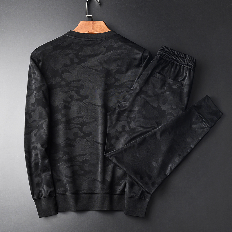 Automne Camouflage 4xl Sweat hoodies Hommes Col Polaire 09717 Ceintures Pantalon Tz Rond Minglu Élastique Hoodies Printemps shirts Pantalon ZI5qRR