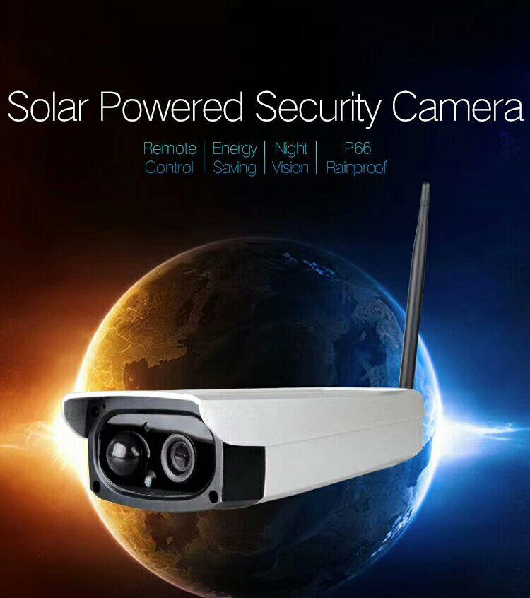 SmartYIBA App Remote Wireless Solar Camera Wifi Battery 1080P Camara IP Solar 128G Waterproof Outdoor Security