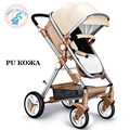 Russia Free Shipping Baby stroller Portable baby carriage can sit and lie baby carriage folding high landscape children trolley