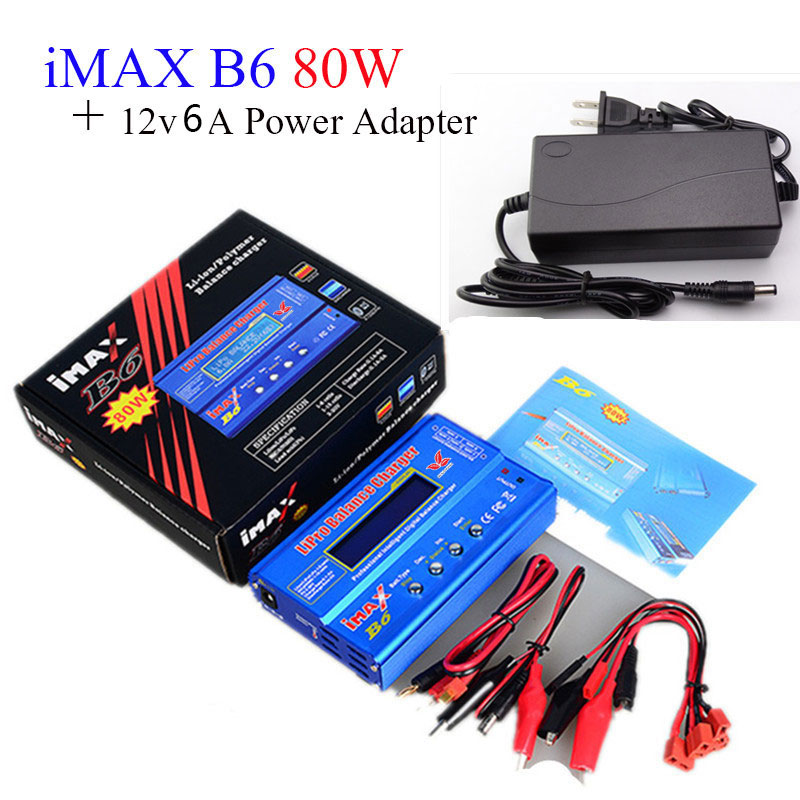 Builld leistungsbatterie Lipro Balance Ladegerät iMAX B6 ladegerät Lipro Digitale Balancenaufladeeinheit 12 v 6A Netzteil + Ladekabel