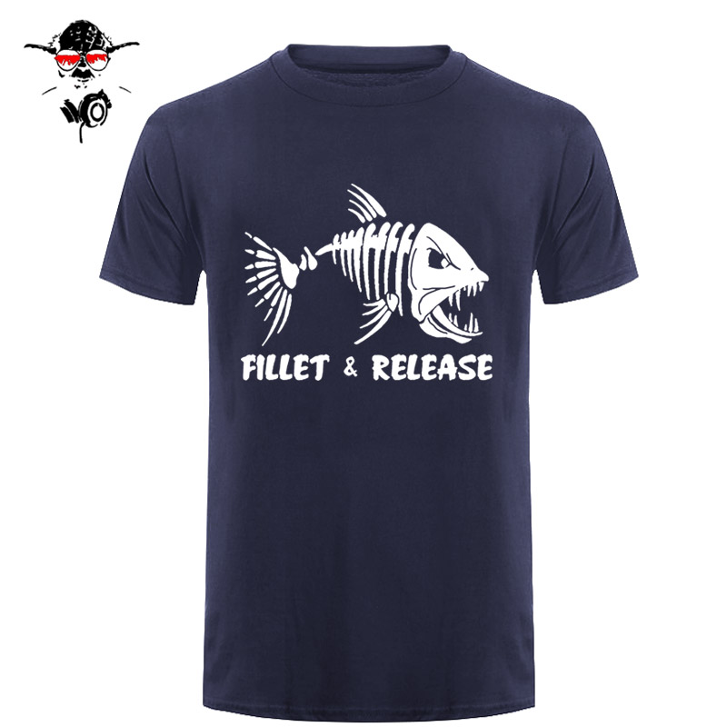 Men's Fillet and Release Fishinger   T  -  Shirt   Print   T     Shirt   Men Summer Tee   Shirt   Mens New Tee   Shirts   Printing