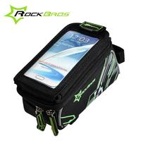 ROCKBROS Cycling Pouch Touchscreen Panniers Reflective Bags Waterproof MTB Bike Bicycle Front Top Frame Handlebar Bag
