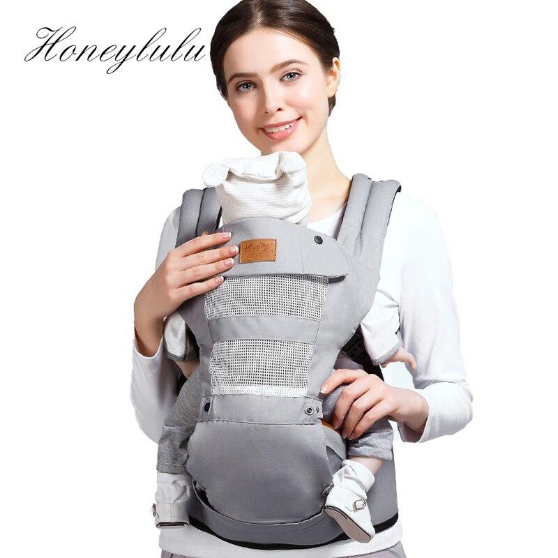 Honeylulu Adjustable Crotch Baby Carrier Four Seasons Sling For Newborns Kangaroo For Baby Hipseat Ergoryukzak Kangaroo