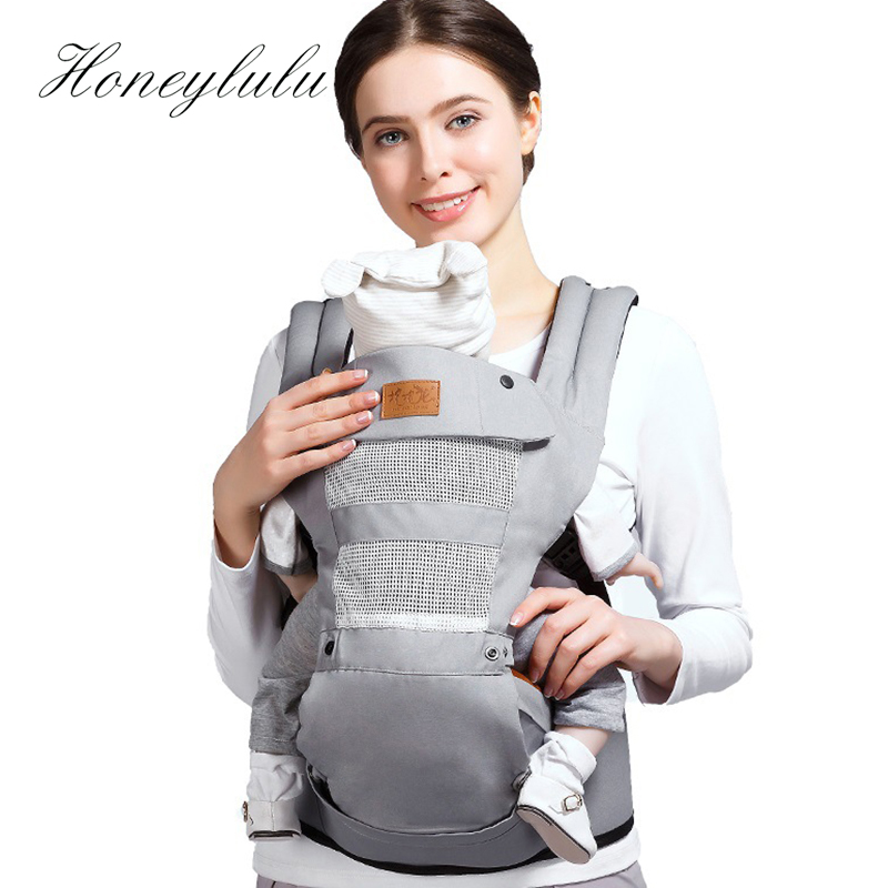 Honeylulu Adjustable Crotch Baby Carrier Four Seasons Sling For Newborns Kangaroo For Baby Hipseat Ergoryukzak Kangaroo