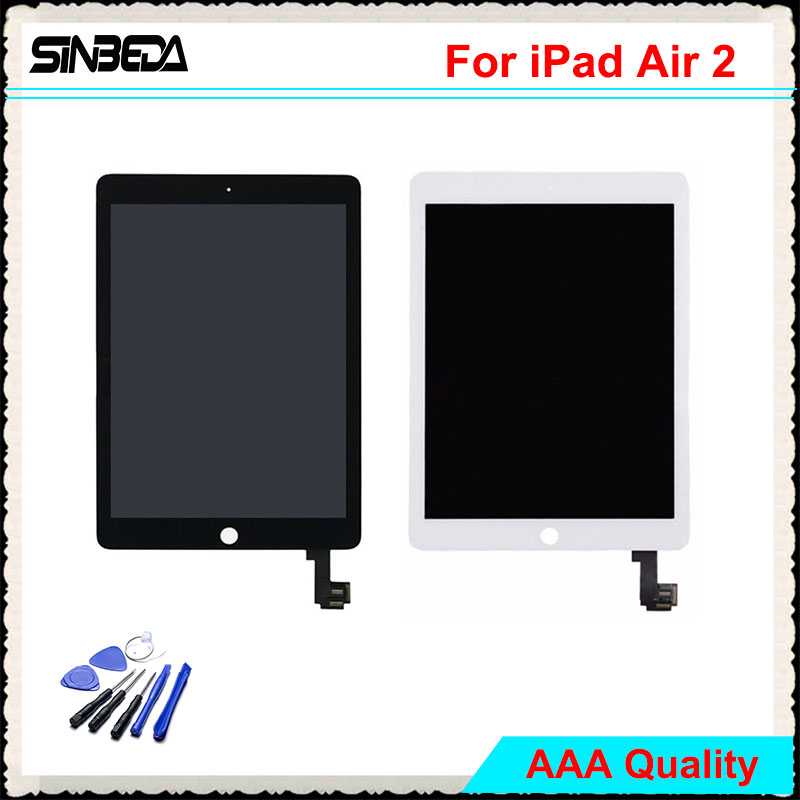 Sinbeda AAAAA LCD For iPad Air 2 A1567 A1566 LCD Screen Display+Touch Screen Digitizer Assembly Replacement Parts For iPad 6 flat panel display