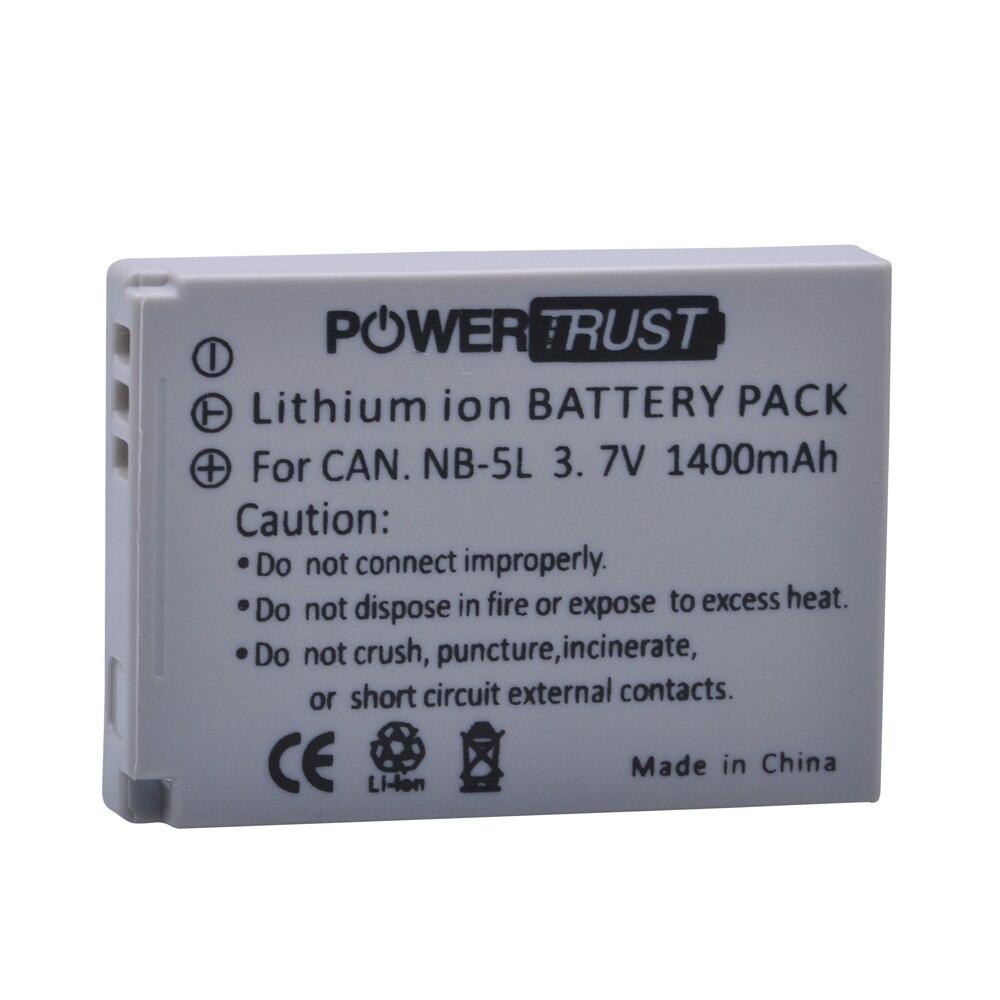 1x1400 mAh NB-5L NB 5L NB5L batería de la cámara para Canon S110 SX200 SX210 SX220 SX230 es HS IXUS 850 870 800 860 990 SD 950 970