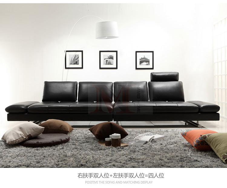 real leather sofa sectional living room sofa corner home furniture - Furniture - Photo 3