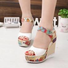 Fashion Women Sandals Summer Wedges Women's Sandals Platform Lace Belt Bow Flip Flops Open Toe High-heeled Women Shoes Female26