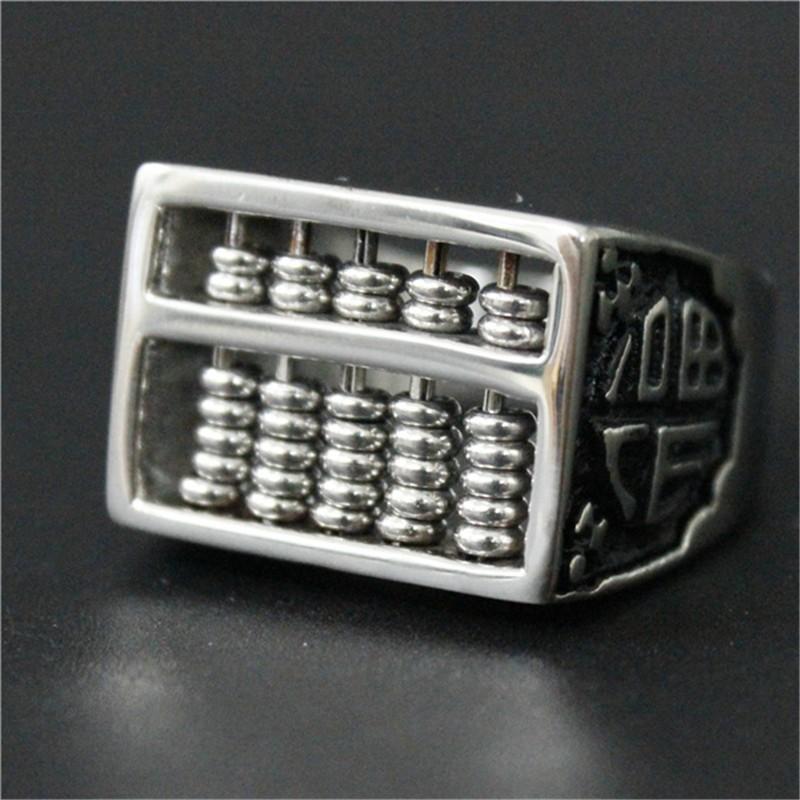 2 teile/los Neue Design Chinesischen Abakus Ring 316L Edelstahl ...