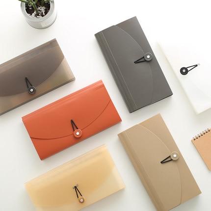 Classified Sorter Document Bag PVC Bag Multi Pocket File Folder Organizer For Document Invoice Bills