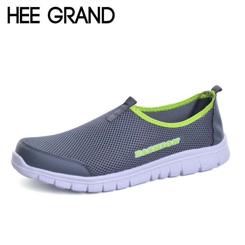 HEE GRAND Men Shoes 2017 Summer Style Male Casual Slip On Network Breathable Mesh Shoes Men Loafers Size Plus 39-46 XMR199 fonirra men casual shoes 2017 new summer breathable mesh casual shoes size 34 46 slip on soft men s loafers outdoors shoes 131