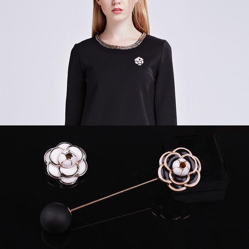 Új camellia Flower Brooches Női Hijab Pin Corsage Női Broach női - Divatékszer