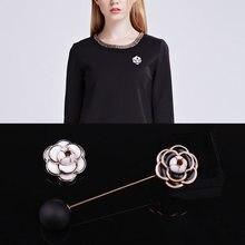 Új camellia Flower Brooches Női Hijab Pin Corsage Női Broach női ruhák Badge kiegészítők ékszerek