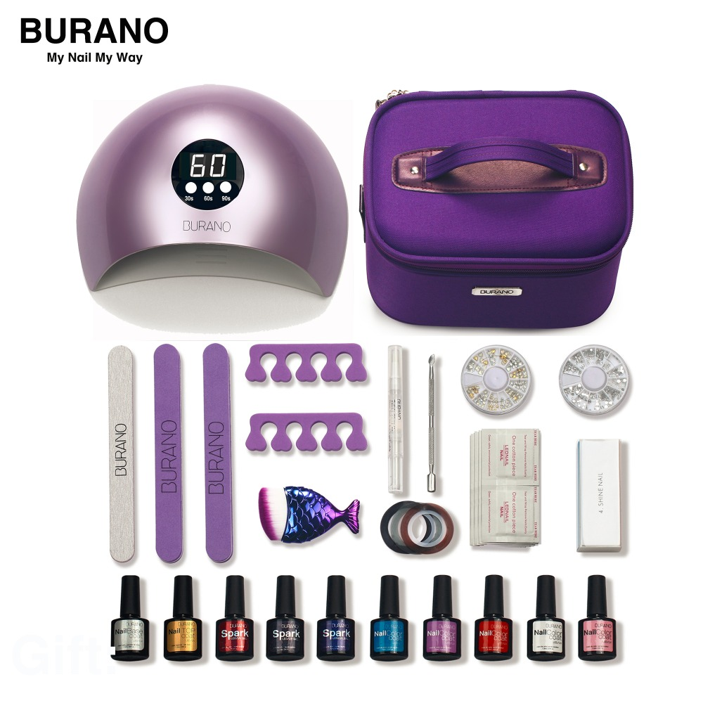 BURANO nail set gel polish 30 days lasting nail kit gel everything for manicure set nail set nail art toolsBURANO nail set gel polish 30 days lasting nail kit gel everything for manicure set nail set nail art tools