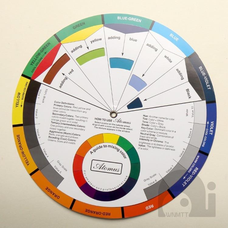 roda de mistura da cor do cartao da roda da cor