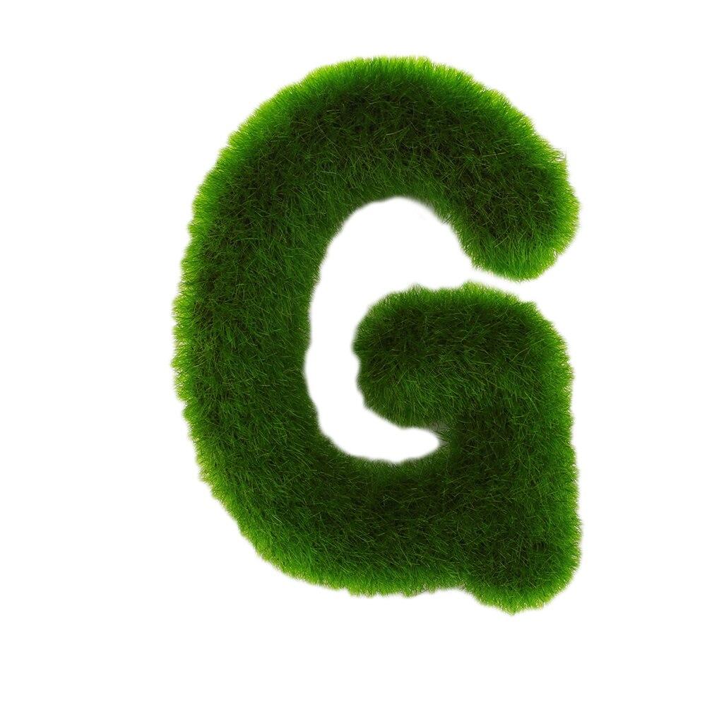 Буквенные предметы интерьера искусственный газон письмо искусственный газон украшение 26 слов ремесленный дом окно креативный - Цвет: G