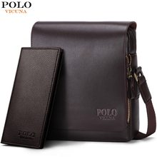 VICUNA POLO New Arrival Fashion Business Leather Men Messenger Bags Promotional Small Crossbody Shoulder Bag Casual Man Bag(China)