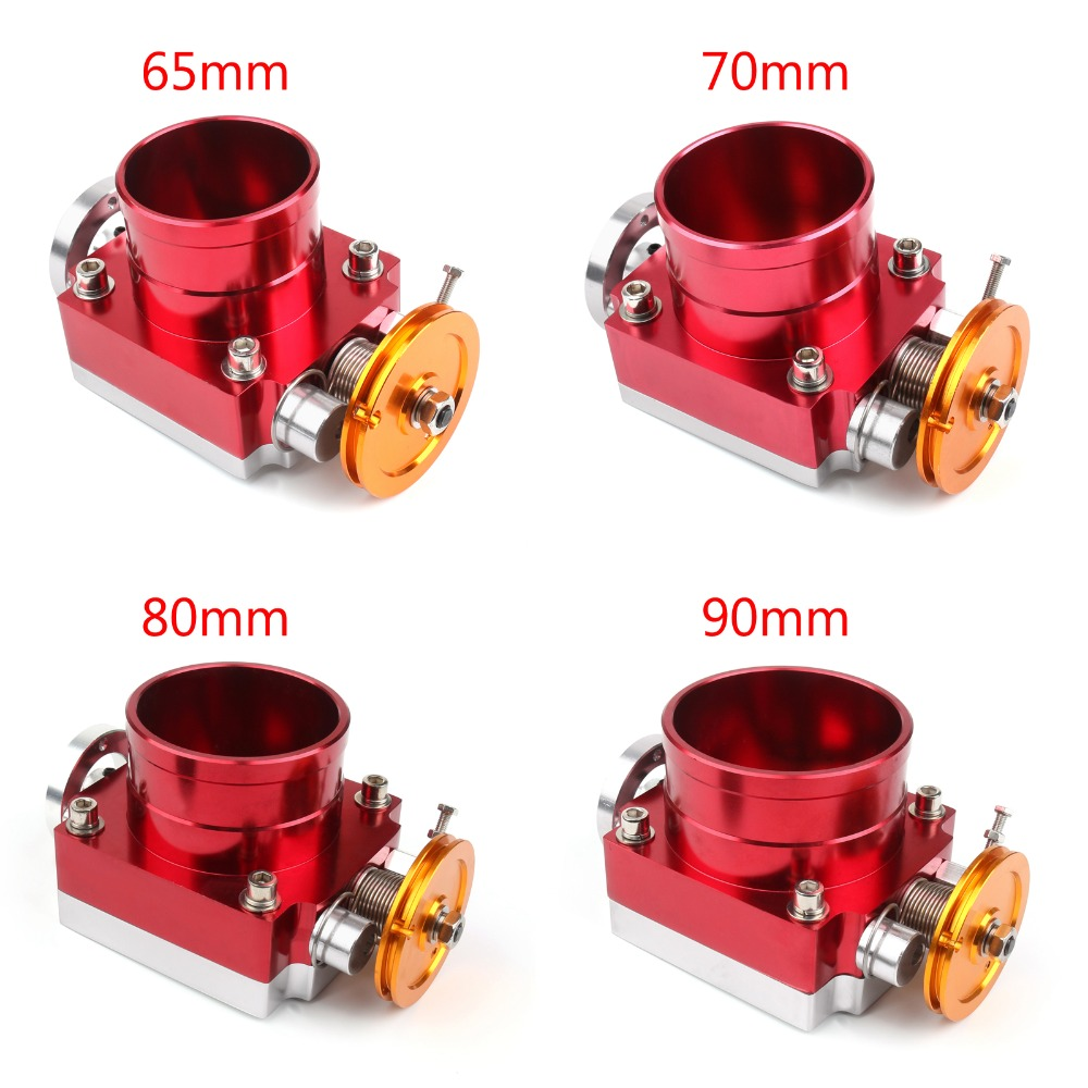 Areyourshop Car Universal 65 80mm Throttle Body Performance Intake Manifold Billet Aluminum High Flow Auto Covers Parts
