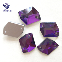YANRUO 3265 All Sizes Amethyst Cosmic Flat Back Sewing Rhinestone Crystal Sew On Strass For Clothes Decoration
