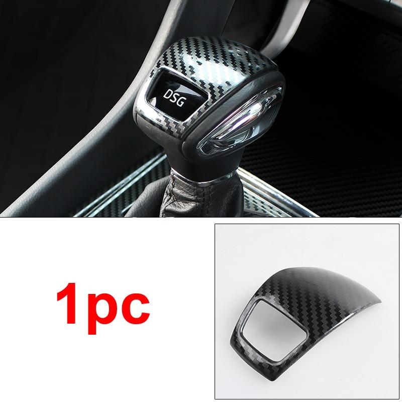 1 pc pour SKODA KODIAQ Vitesse tête Décoration couverture En fiber de Carbone motif acier Inoxydable