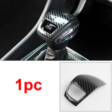 1pc for SKODA KODIAQ Gear head Decoration cover Carbon fiber pattern Stainless steel