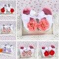 Strass Sapatos De Marca Do Bebê Recém-nascido; fabricToddler sapatinhos de bebê Flor de Marfim; Mocassins Bebê Batismo Infantil Calçados, criança chinelo