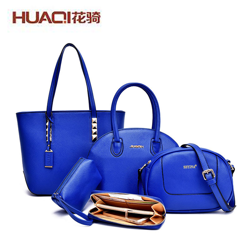 ФОТО High Fashion New Brand Women Leather Bag Women's Bag Set 2017 Famous Brand Crossbody Bag Ladies Bolsas De Femininos HQ9906#