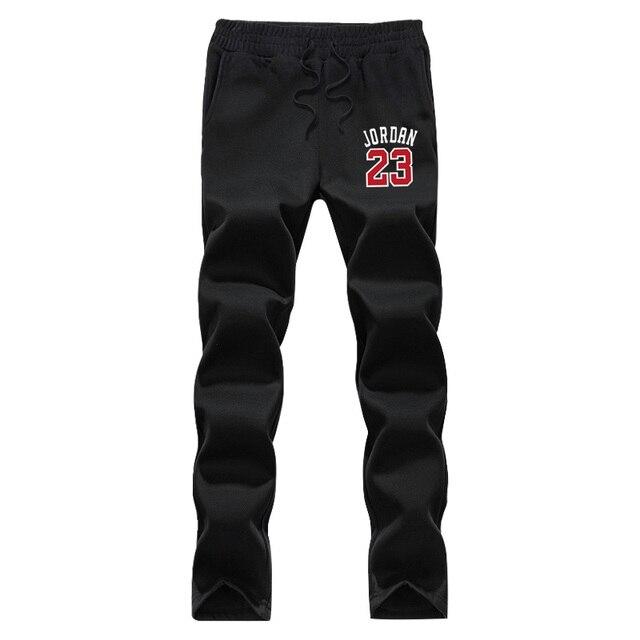 2016 новые зимние мужские бегунов брюки печати star Леброн Джеймс Иордании 23 графический руно новизна штаны