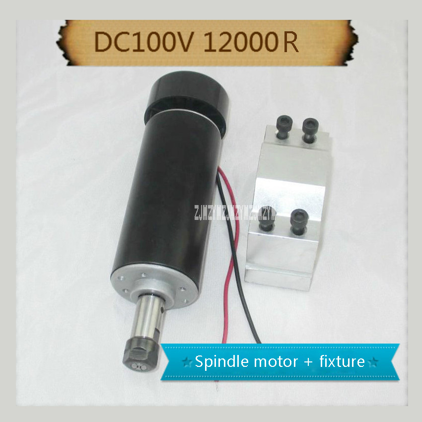 BEST! YS52-500A-100 500W DC ER11 Air-cooled Spindle Motor + Fixture, 52mm diameter CNC Carving Milling Air Cold Spindle Motor free shipping 500w er11 collet 52mm diameter dc motor 0 100v cnc carving milling air cold spindle motor for pcb milling machine