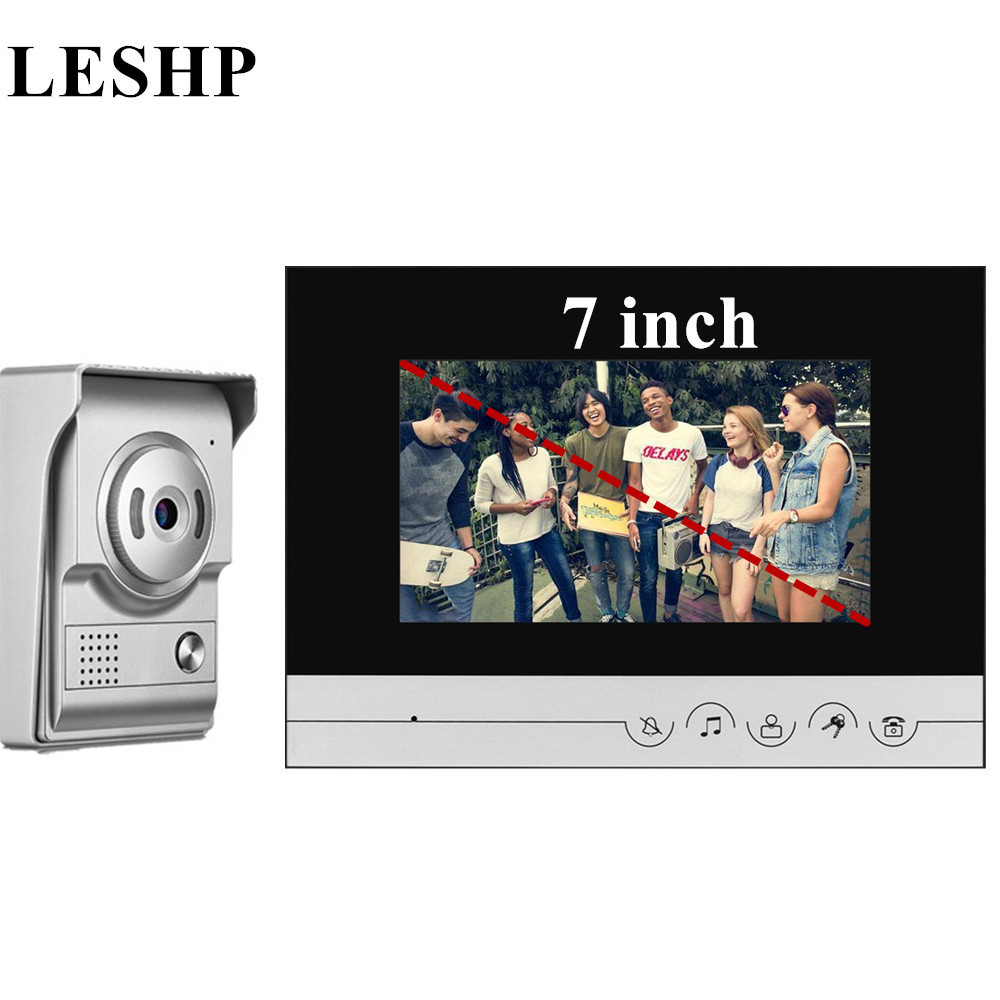 Video Intercom 7 Inch TFT-LCD Door Phone Infrared Night Vision Doorbell Home Security Wired Visual Doorbell HD Camera