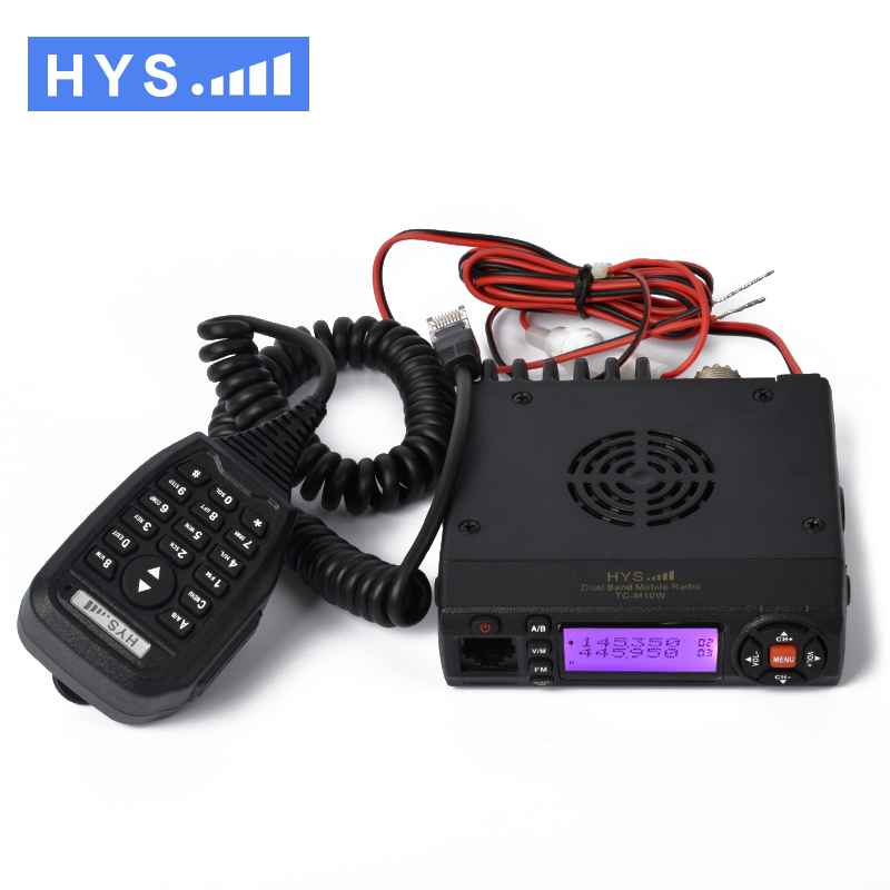 136-174/400-490MHz Dual Band VHF UHF Mini Mobile Radio Transceiver with USB Programming Cable