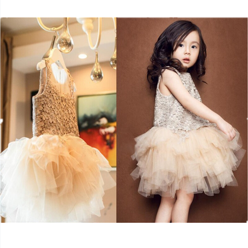 Flower Lace Girl Dress 3 4 5 6 7 8 9 10 Year Children Princess Dresses Sweet Kids Clothes for Party Wedding Ballet summer 2017 new girl dress baby princess dresses flower girls dresses for party and wedding kids children clothing 4 6 8 10 year