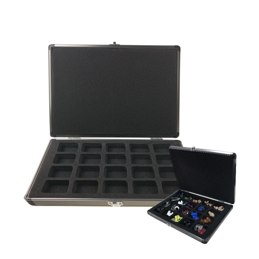Presentation Display Case Box for Hearing Aids In-ear Monitors IEM Earphones Demonstration acrylic display with silicone ear model for hearing aids iem jewelry exhibition demonstration