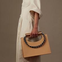 Casual Cylindrical Metal Handbags Women Large Capacity Shoulder Bags Luxury Pu L