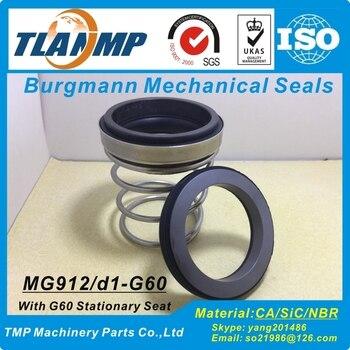 MG912/75-G60 ( MG912-75 ) Burgmann Mechanical Seals with G60 Seat (Material:SiC/Carbon/NBR) EN12756 Rubber Bellow Seals