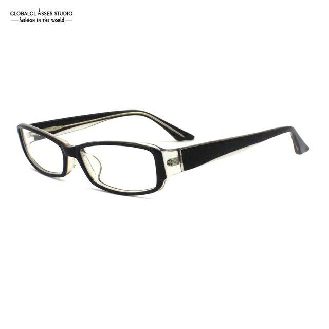 414e23f801 Popular Rectangular Acetate Glasses Frame Men High Quality Black on Crystal  College Student Myopia Optical Eyeglasses YX1001