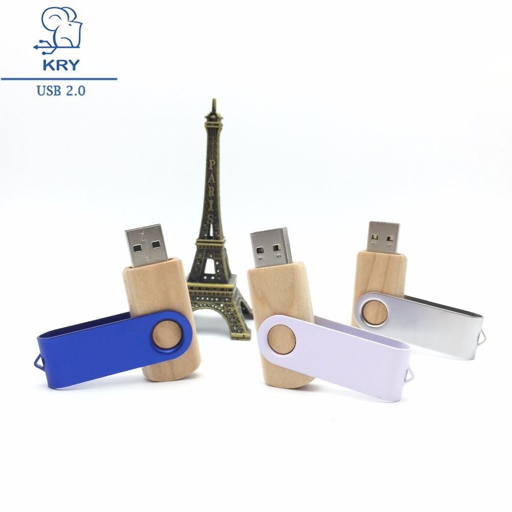 KRY high-speed usb3.0 best-selling wooden flash drive 4GB 8GB 16GB 32GB 64GB portable metal Pendrive2.0 interface storage disk