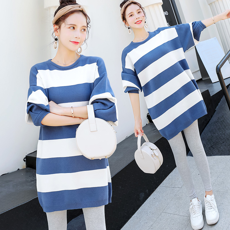 Autumn Winter Maternity Sweaters Loose Clothes for Pregnant Women Korean Fashion Maternity Sweaters H283 9059 2018 autumn winter fashion maternity sweaters slim knitted loose dress clothes for pregnant women thicken warm pregnancy